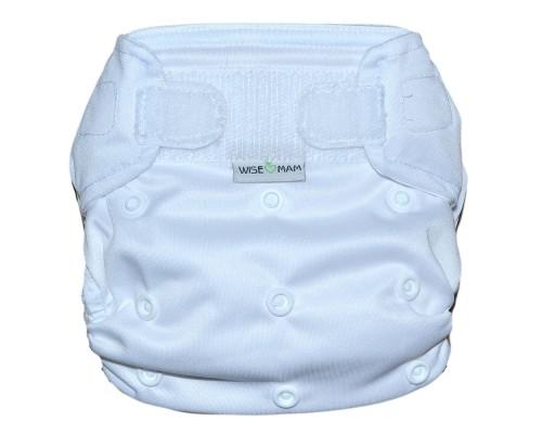 Подгузник всё в одном Белый На липучке. Размер  L (6-16 кг)
