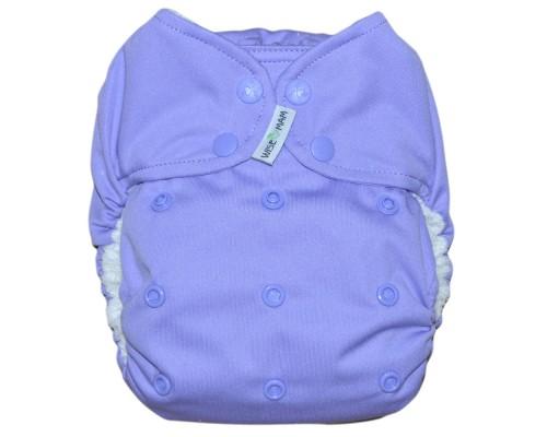 Подгузник всё в одном Фиолетовый На кнопках. Размер  L (6-16 кг)