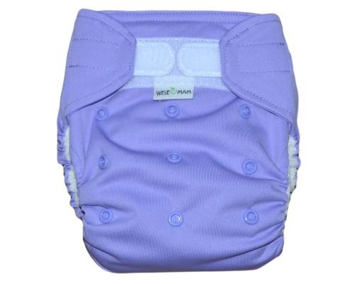 Подгузник всё в одном Фиолетовый На липучке. Размер  L (6-16 кг)