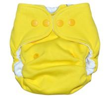 Подгузник хлопковый для новорождённых. Жёлтый