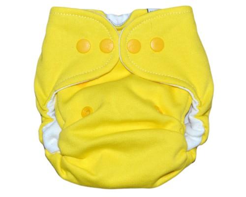 Подгузник хлопковый. Размер S (3-7 кг). Жёлтый