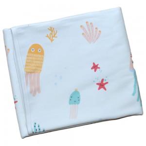 Двухсторонняя непромокаемая пеленка Медузы. Размер L 100 х 80 см