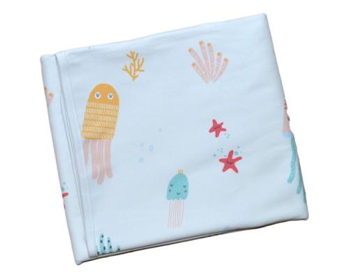 Двухсторонняя непромокаемая пеленка Медузы. Размер S 70 х 50 см