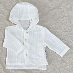 Муслиновая рубашка с капюшоном