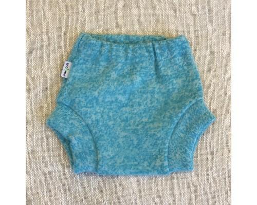 Мериносовые штанишки из валяной шерсти однослойные. Бирюза