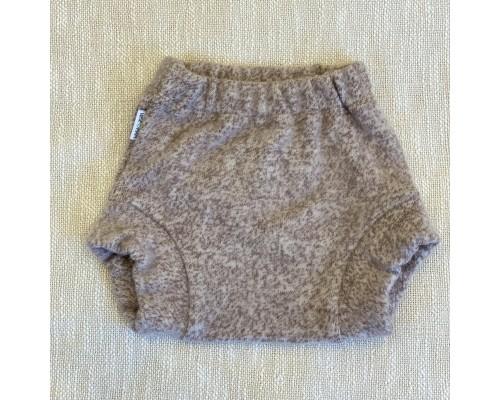Мериносовые штанишки из валяной шерсти однослойные. Коричневые