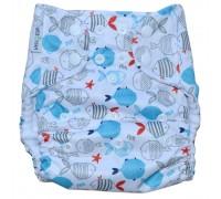 Подгузник Классика с карманом Pocket Рыбки